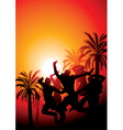 Sunset party vector | Price: 1 Credit (USD $1)