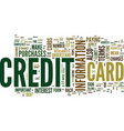 the most effective way to apply for a credit card vector image vector image