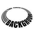 tire track perspective circle vector image vector image