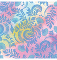 watercolor background and floral seamless blue vector image