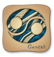 Zodiac sign - Cancer Doodle hand-drawn style vector image vector image