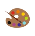 Palette with brush flat icon vector image