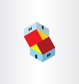 unreal houses icon vector image