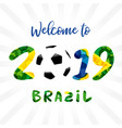 2019 welcome logo banner vector image vector image