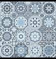 a set of blue tiles vector image vector image