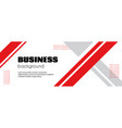 abstract business background minimal long banner vector image vector image