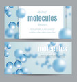 abstract molecules background vector image