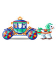 animated circus horse or pony carries small vector image vector image