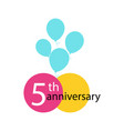 anniversary emblem anniversary template design vector image vector image