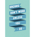 Art poster with motivational phrases vector image vector image