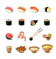 Asia Food Icon Set vector image