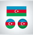 azerbaijan trio flags vector image vector image