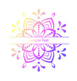 beautiful colour mandala stock vector image vector image