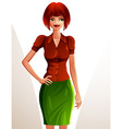 Beautiful coquette smiling lady full body vector image vector image