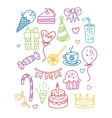 Birthday Party Image Collection vector image vector image