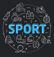 black line flat circle sport vector image