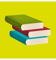 books isolated icon design vector image