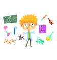 boy chemist kids future dream professional vector image