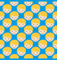 boy face seamless pattern expression cute teenager vector image vector image