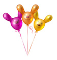 Bunch of balloons in the shape of birds vector image vector image