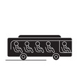 bus with passengers black concept icon bus vector image