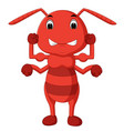 cartoon ant strong vector image vector image