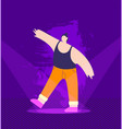 cartoon dancing man performing on stage disco fest vector image vector image
