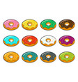 cartoon donuts vector image