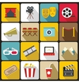Cinema icons set flat style vector image vector image