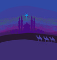 Classic three magic scene and shining star of vector image vector image