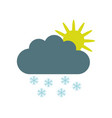 cloud icon with snow vector image vector image