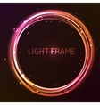 Colorful glowing frame vector image vector image