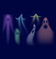 colorful shadows ghost swanky halloween ghost vector image vector image