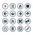 construction icons universal set vector image vector image