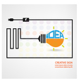 creative light bulb symbol vector image vector image