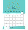 december 2019 wall calendar doodle style vector image vector image