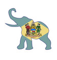 delaware republican elephant flag vector image vector image