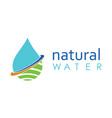 drop water natural logo vector image vector image