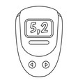 electronic glucometer icon outline style vector image vector image