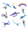 extreme air and motor or water sport flying and vector image vector image