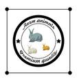 farm animals premium quality silhouettes isolated vector image
