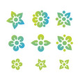 flower and sun icon colorful logo healthy vector image vector image