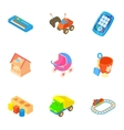Fun games for kids icons set cartoon style vector image vector image