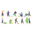 gardening characters farm workers gardeners vector image