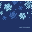 glitter snowflakes dark horizontal frame seamless vector image vector image
