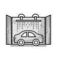 grayscale car service washing mechanical vector image