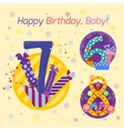 Happy birthday badges icons