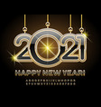 happy new year 2021 black and gold alphabet set vector image vector image