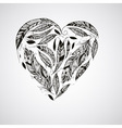 Heart made of Feathers vector image vector image