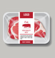 high quality products meat pork and beef in vector image vector image